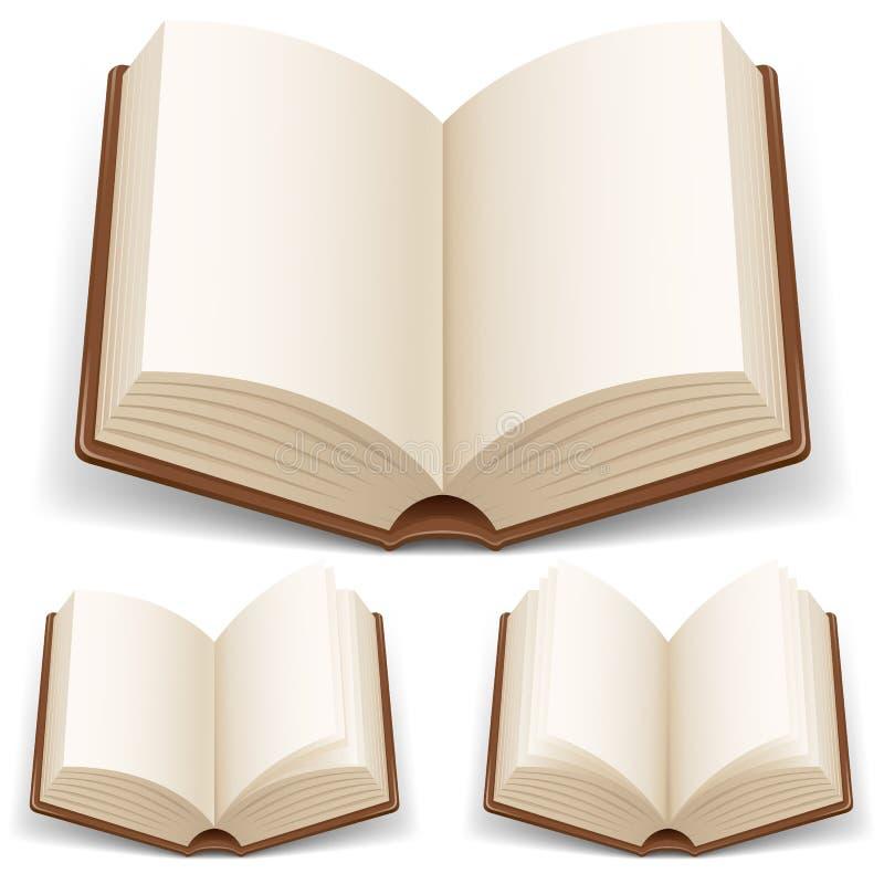 vita öppna sidor för bok royaltyfri illustrationer
