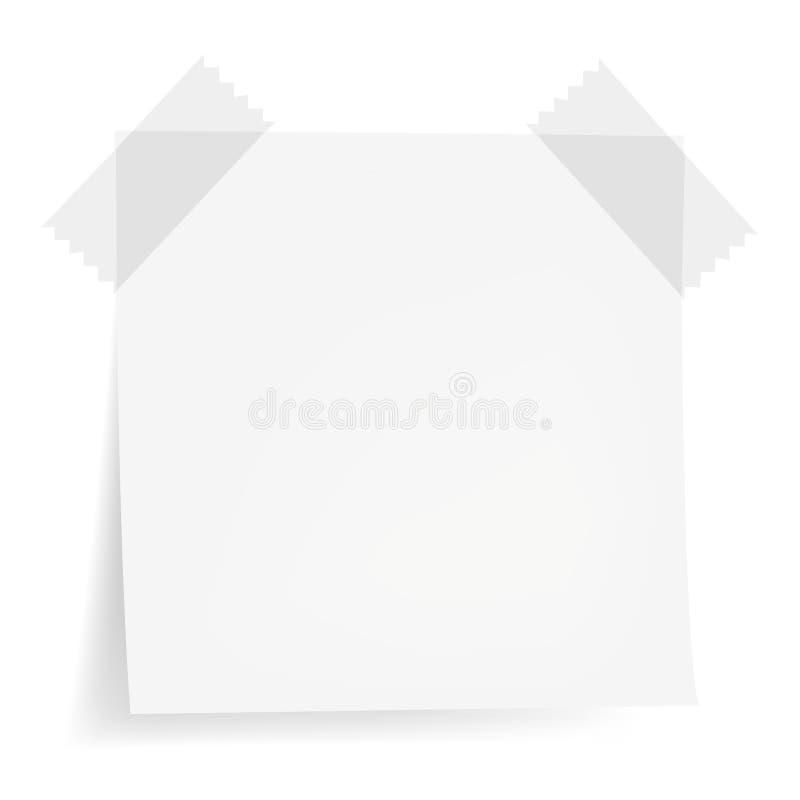 vita anmärkningspapperen royaltyfri illustrationer