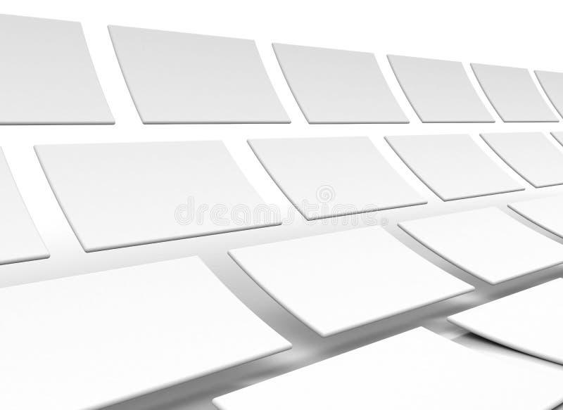 Download Vita bakgrundsrektanglar stock illustrationer. Illustration av fyrkant - 19784022