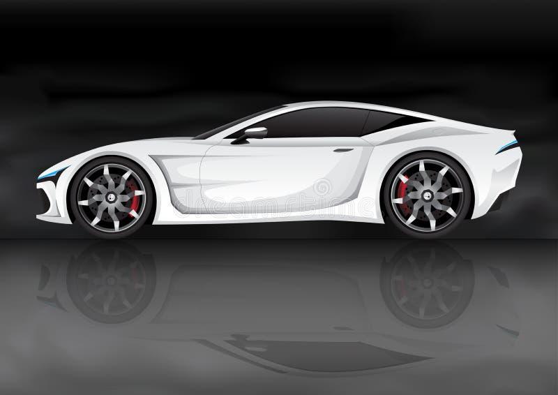 vita bilsportar royaltyfri illustrationer