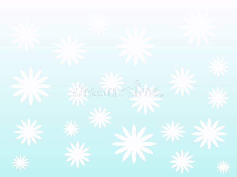 Vita blommor på en bakgrund vektor illustrationer