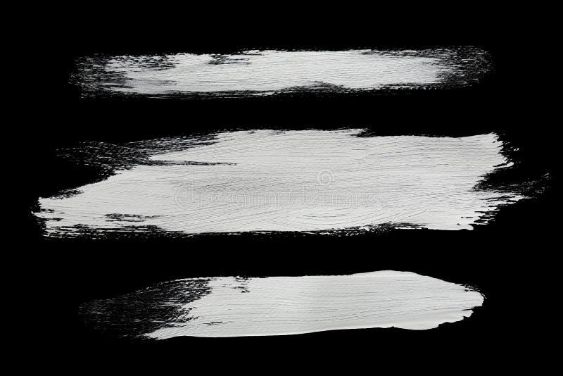 Vita borsteslaglängder arkivbilder