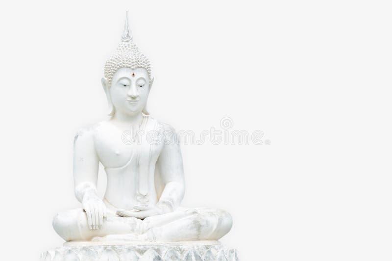 Vita Buddhastatyer royaltyfri fotografi
