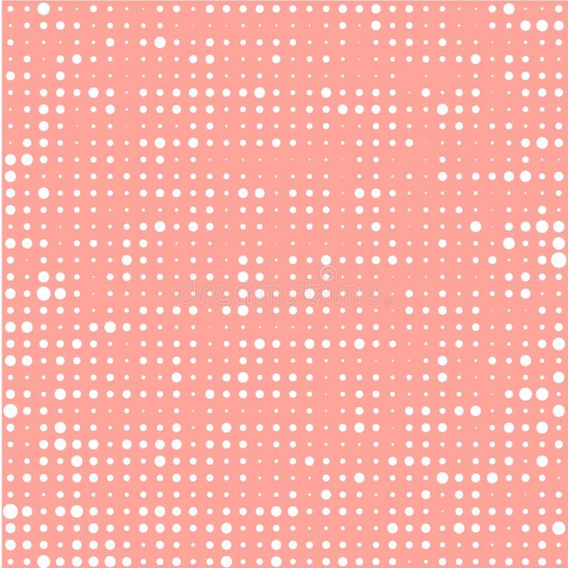 Vita cirklar på teracottabakgrund vektor illustrationer