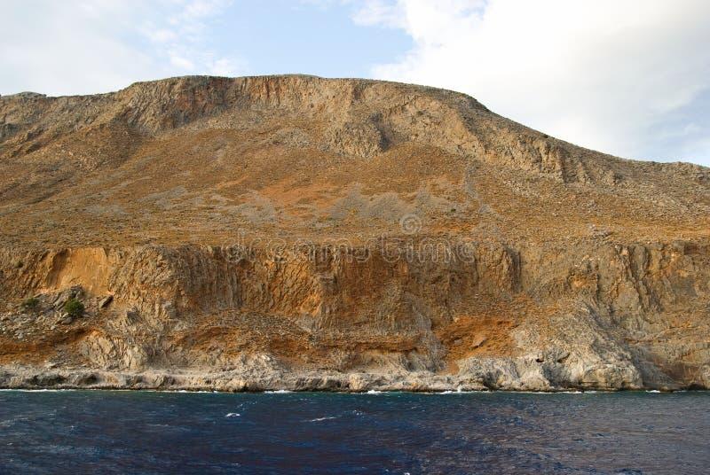 vita crete greece berg arkivfoton
