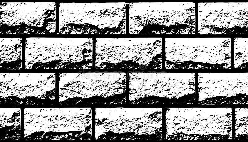 Vita dekorativa tegelplattor för vektortextur i form av tegelsten royaltyfri illustrationer
