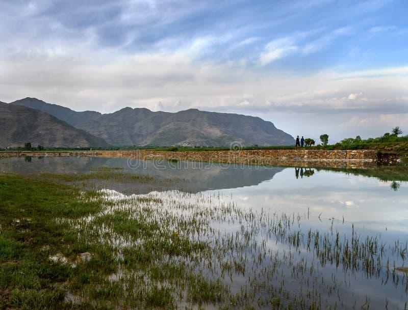 Vita del villaggio della gente dello schiaffo, Pakistan fotografia stock libera da diritti