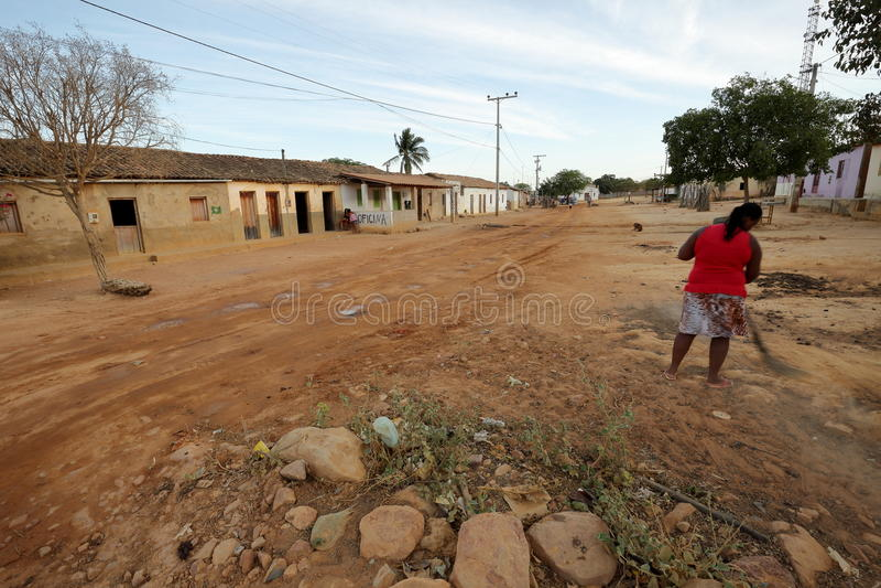 Vita del villaggio nel Brasile in Petrolina fotografie stock