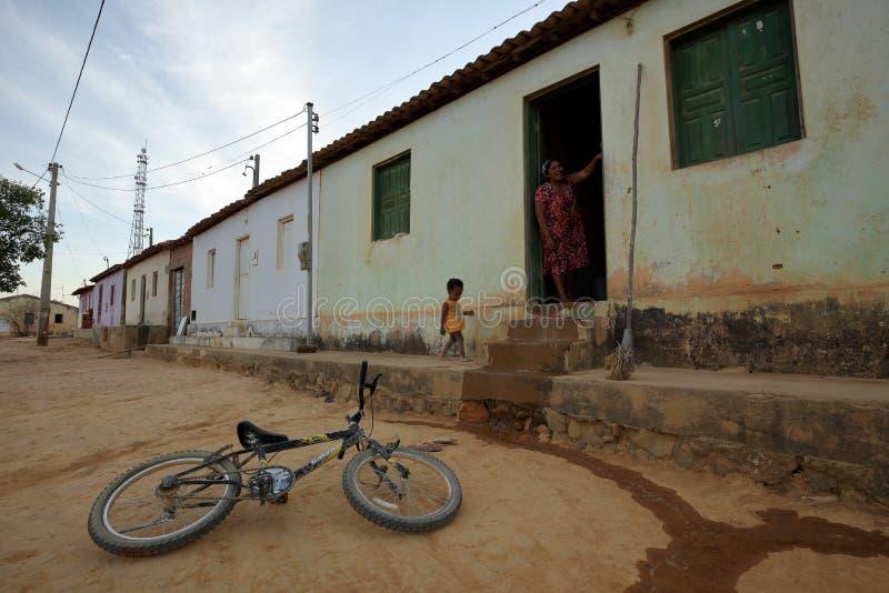 Vita del villaggio nel Brasile in Petrolina immagine stock libera da diritti
