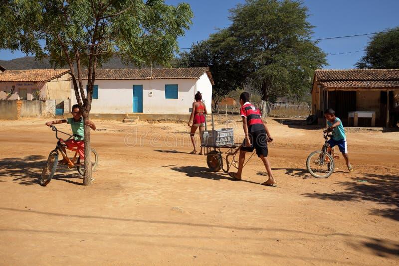 Vita del villaggio nel Brasile in Petrolina immagini stock libere da diritti