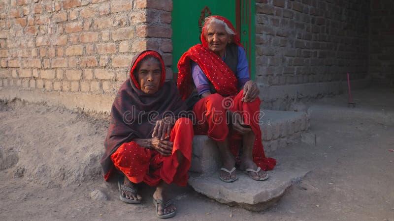 Vita del villaggio, Ragiastan rurale, India immagini stock libere da diritti