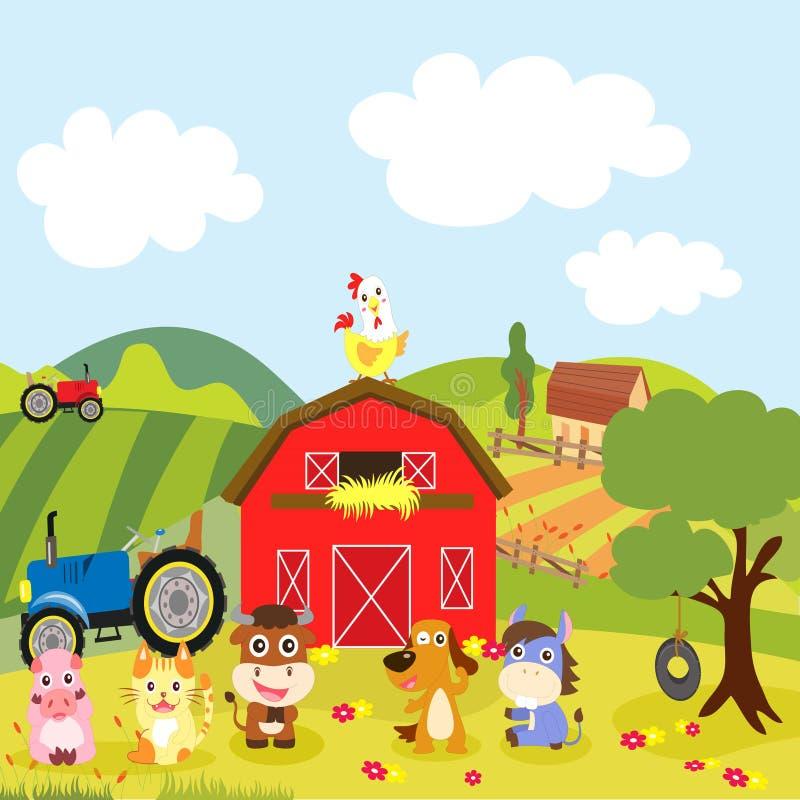 Vita dell'azienda agricola royalty illustrazione gratis