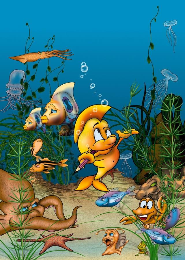 Vita dell'oceano illustrazione di stock