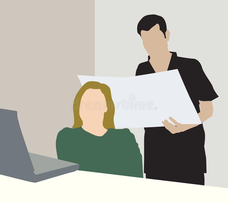Vita dell'ufficio illustrazione vettoriale