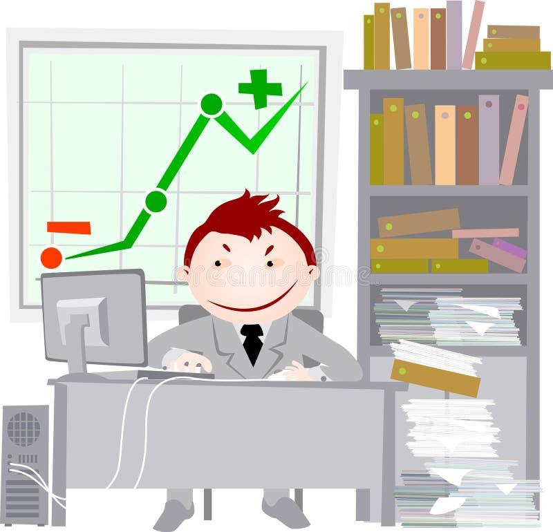 Vita dell'ufficio - gestore. illustrazione vettoriale