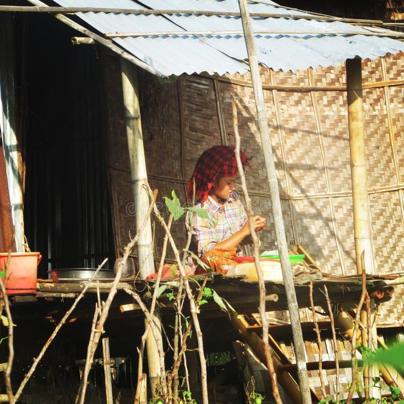 Vita della Birmania fotografia stock