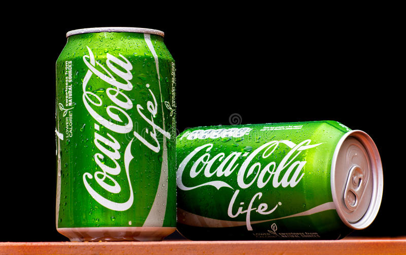 VITA della coca-cola immagini stock libere da diritti