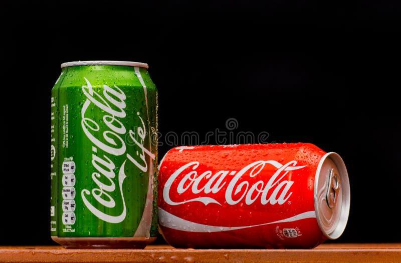 VITA della coca-cola immagine stock