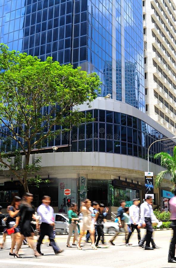 Vita di affari di Singapore immagine stock libera da diritti