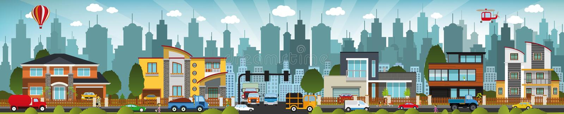 Vita di città illustrazione vettoriale
