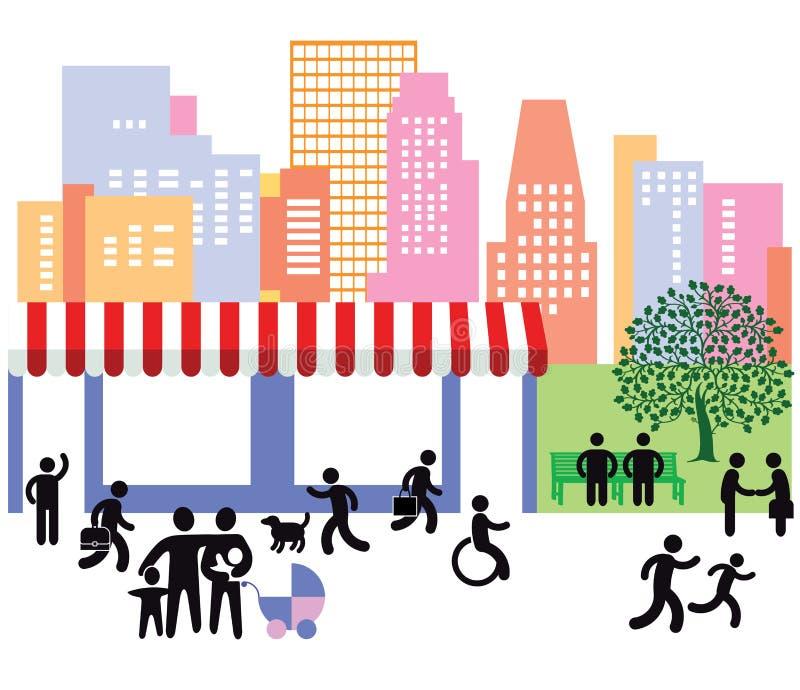 Vita di città illustrazione di stock