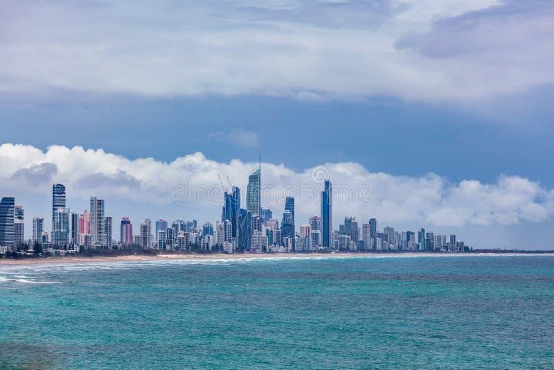 Vita di lusso aumento della città di Gold Coast nell'alto fotografia stock