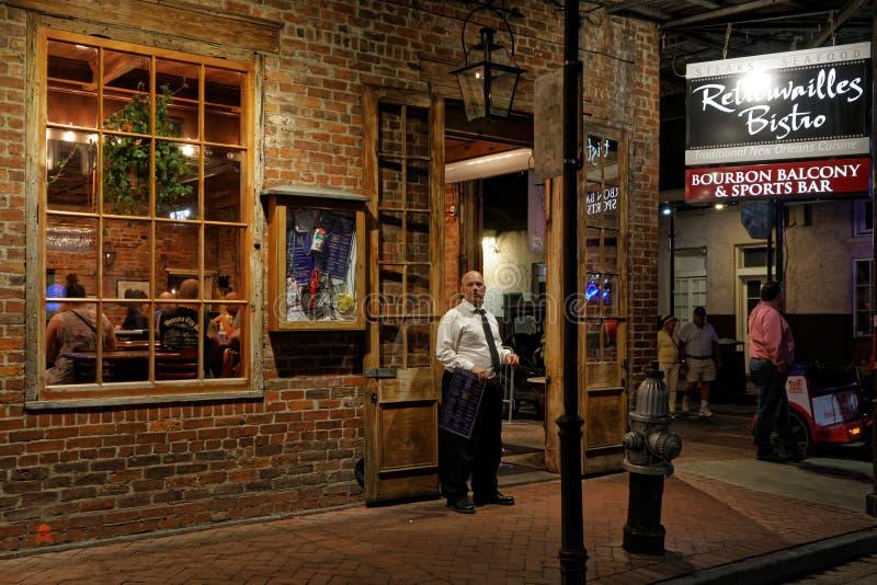 Vita di notte sulla via di Bourbon immagine stock