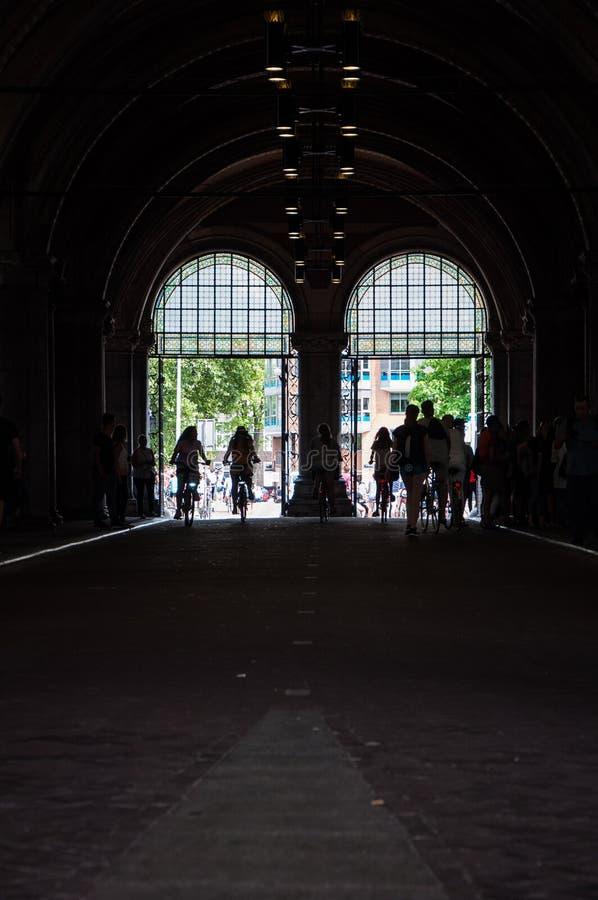 vita di via di Amsterdam fotografia stock libera da diritti