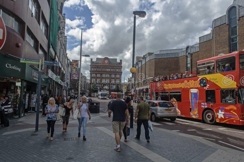 Vita di via a Belfast immagine stock