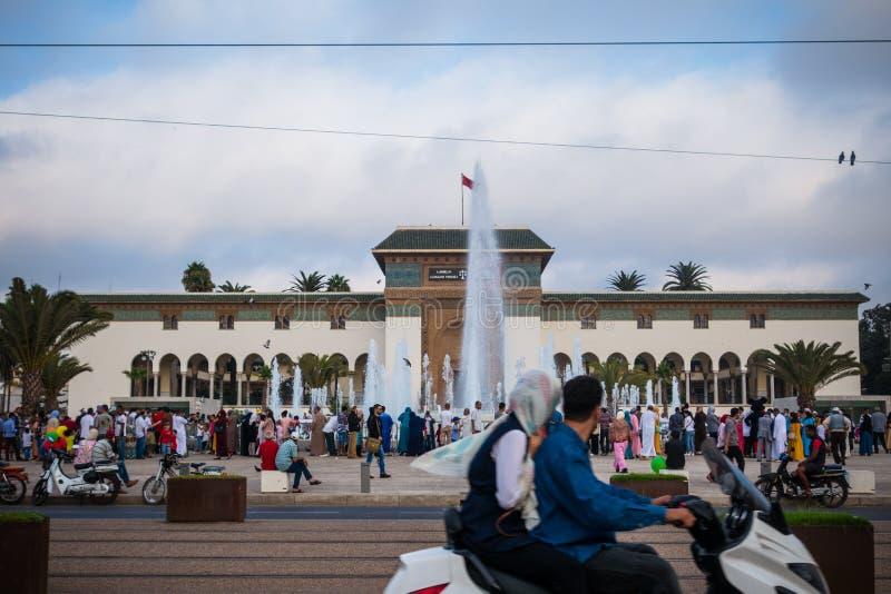 Vita di via di Casablanca fotografia stock libera da diritti