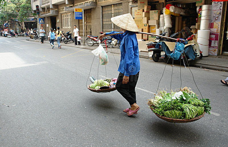 Vita di via vietnamita fotografia stock libera da diritti