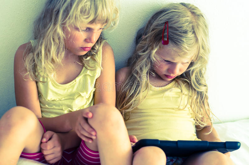 Vita digitale di infanzia fotografia stock libera da diritti