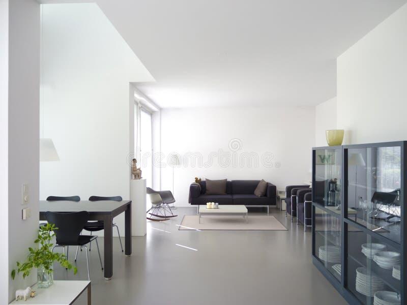 Vita e sala da pranzo moderne immagine stock immagine di nero domicile 40834301 - Sale da pranzo moderne ...