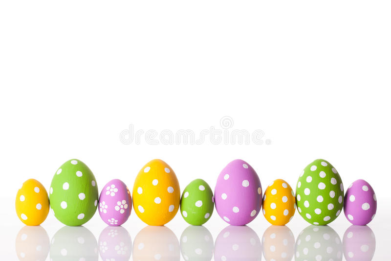 vita easter ägg fotografering för bildbyråer