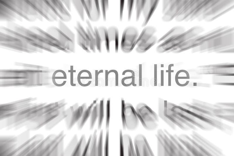 Vita eterna nella sacra scrittura illustrazione vettoriale
