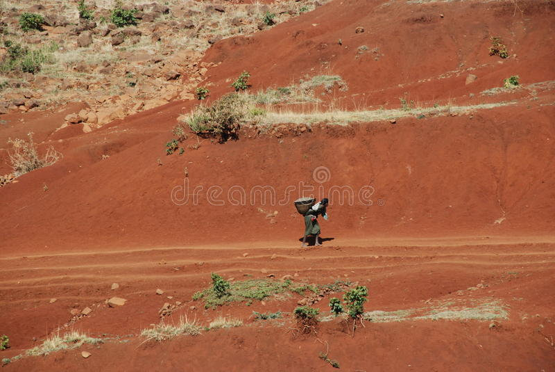 Vita etiopica rurale immagine stock