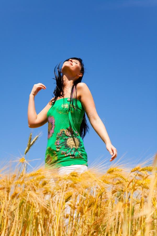 Vita femminile allegra sana fotografia stock libera da diritti