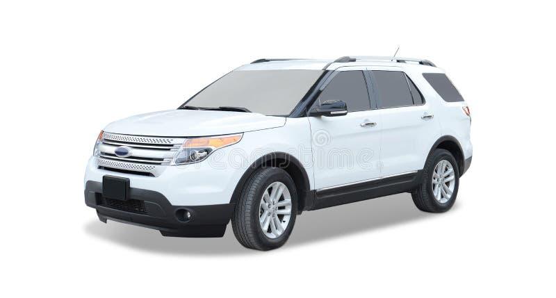 Vita Ford SUV royaltyfri fotografi