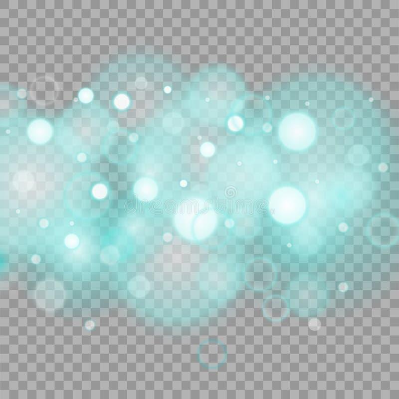 Vita gnistor blänker special ljus effekt Vektorn mousserar på genomskinlig bakgrund vektor illustrationer