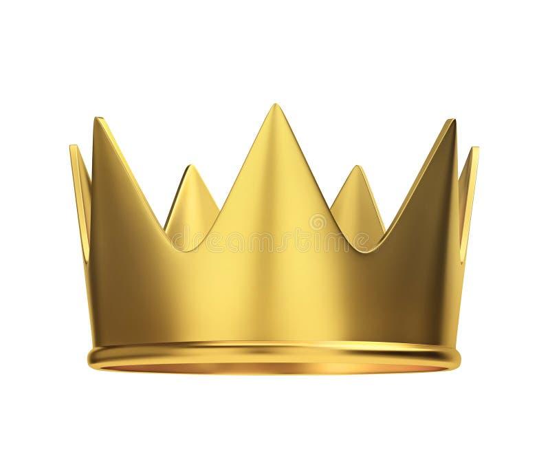 vita guld- isolerade banor för clippingkrona royaltyfri illustrationer
