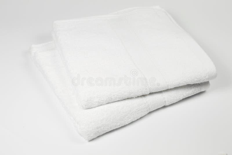vita handdukar arkivbilder