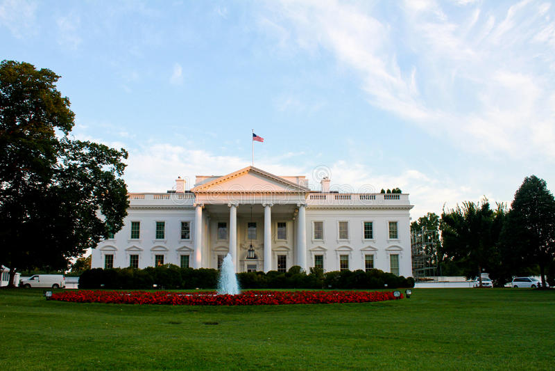 Vita huset Washington, DC royaltyfri foto