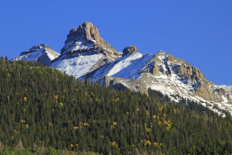 Vita Husetberg, monteringsSneffels område, Colorado royaltyfri fotografi