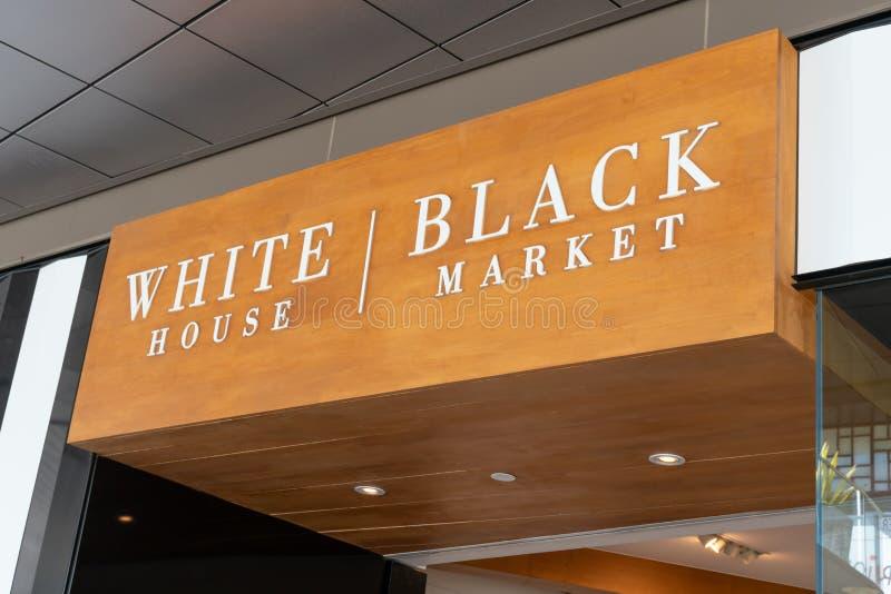 Vita Husetsvart markerade detaljistyttersida och varumärkeslogo arkivbilder
