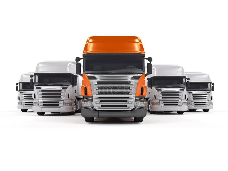 vita isolerade lastbilar stock illustrationer