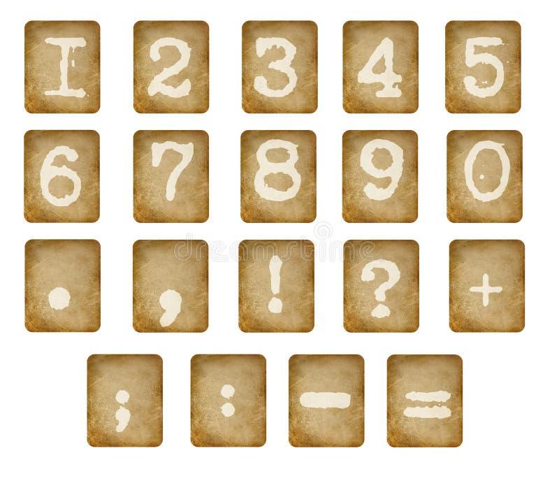 vita isolerade nummer vektor illustrationer