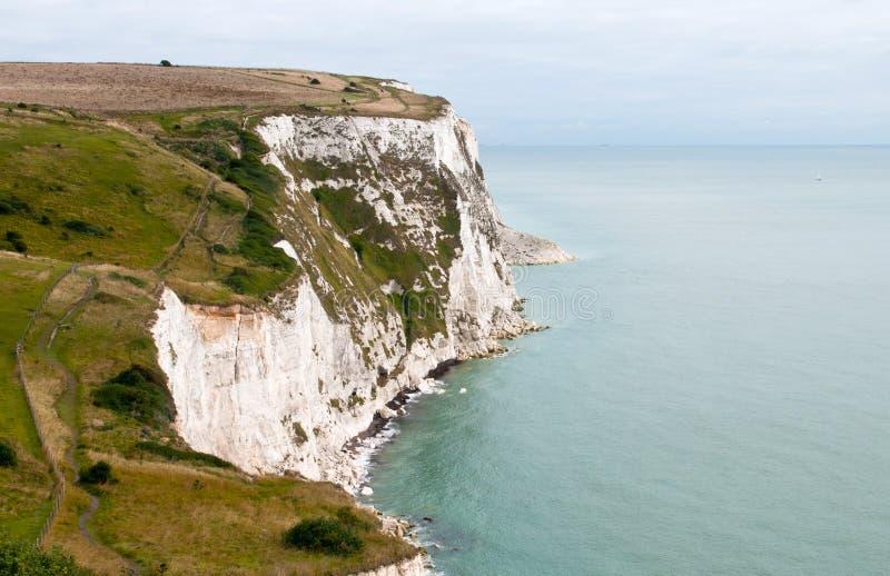 Vita klippor av Dover royaltyfri fotografi