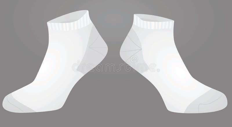 Vita korta sockor stock illustrationer