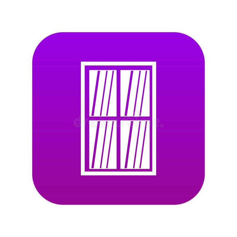 Vita latticed digitala lilor för rektangelfönstersymbol stock illustrationer