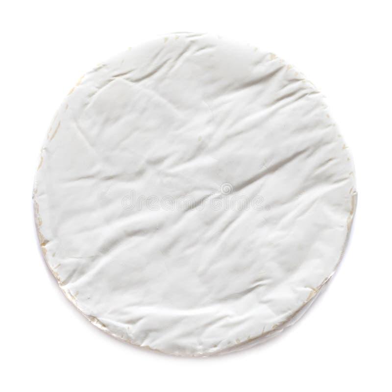 Vita mjuka Brie Cheese Camembert som isoleras på vit bakgrund, royaltyfri foto